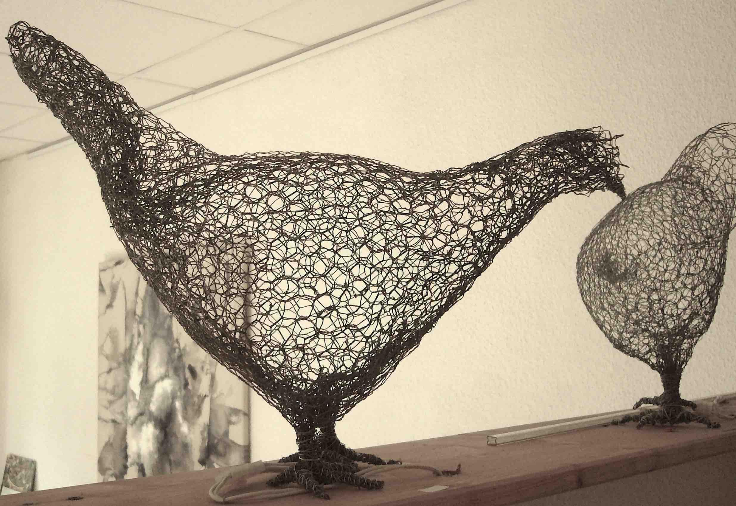 Skulptur Huhn